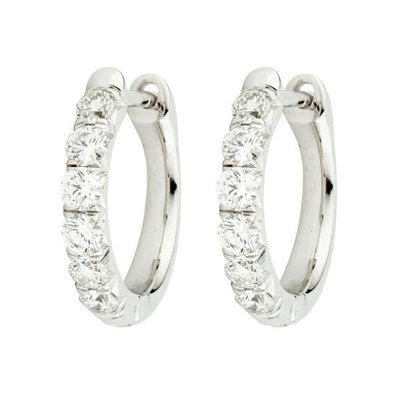 Jude Frances Jude Diamond Pave Hoop Earrings