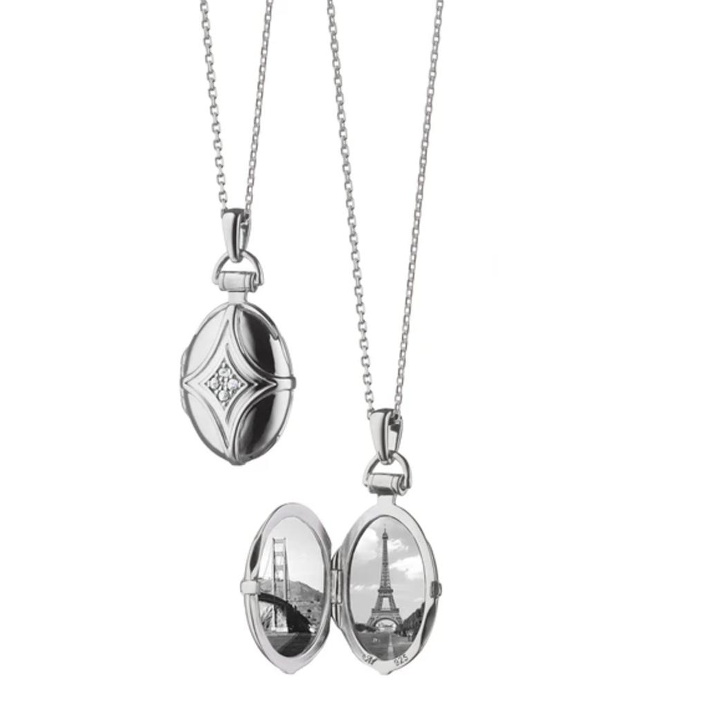 Monica Rich Petite Bridle Locket Necklace