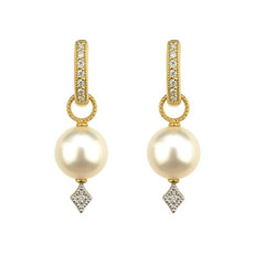 Jude Frances Large Lisse Pearl Earring Charms