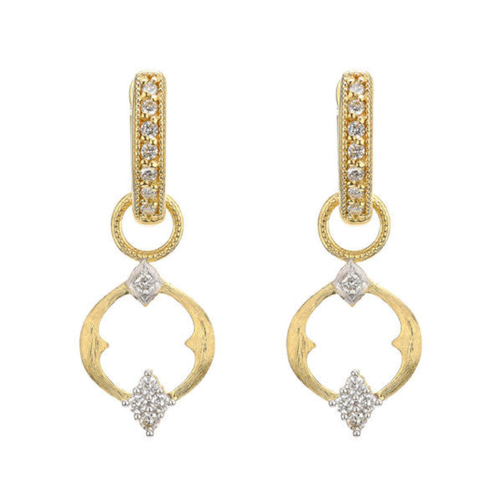 Jude Frances Small Open Moroccan Quad Circle Earring Charms Yellow Gold