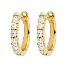 Jude Frances Diamond Pave Hoop Earrings