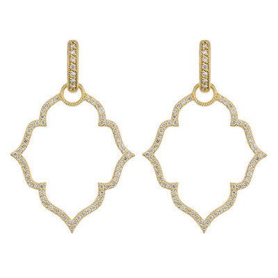 Jude Frances Michelle Flower Pave Earring Charm Frames