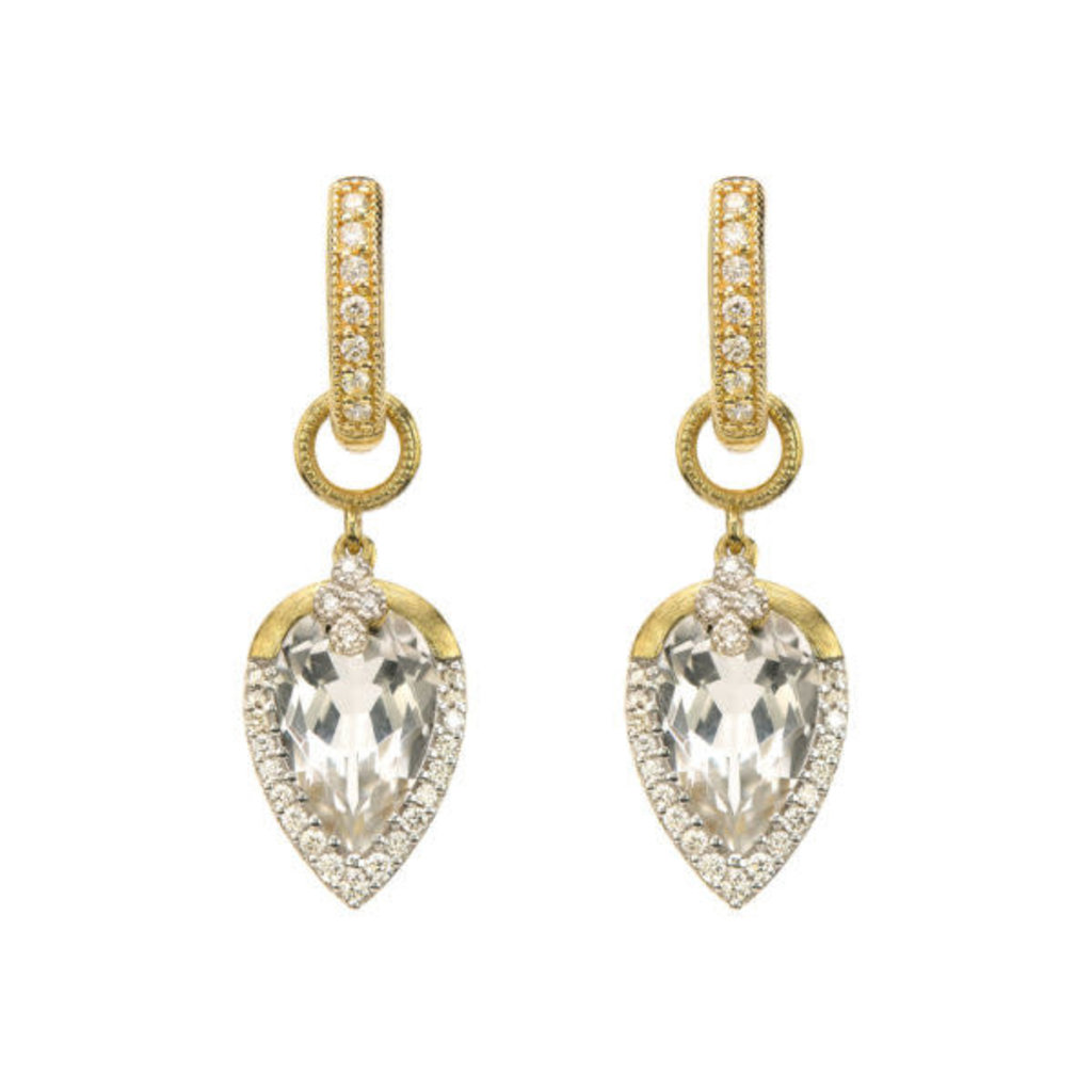 Jude Frances Provence Pave Tear Drop Delicate Earring Charm