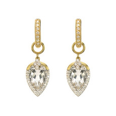 Jude Frances Provence Pave Tear Drop Delicate Earring Charms