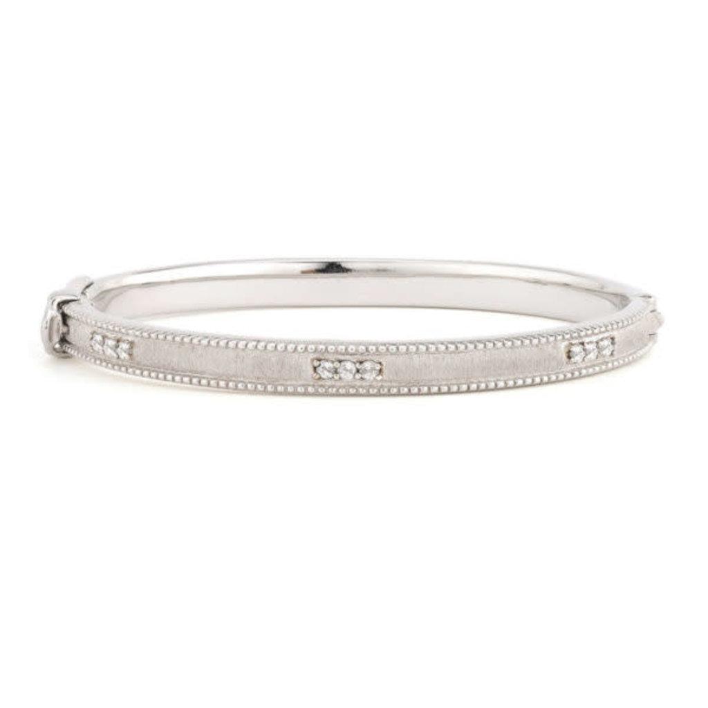 Jude Frances Silver Simple Lisse Bracelet