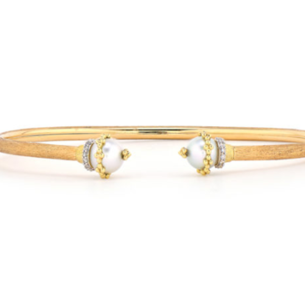 Jude Frances Provence Wrapped Pearl Bangle