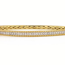 Jude Frances Provence Pave Beaded Diamond Bangle