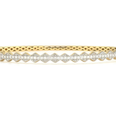 Jude Frances Lisse Continuous Half Kite Diamond Bangle