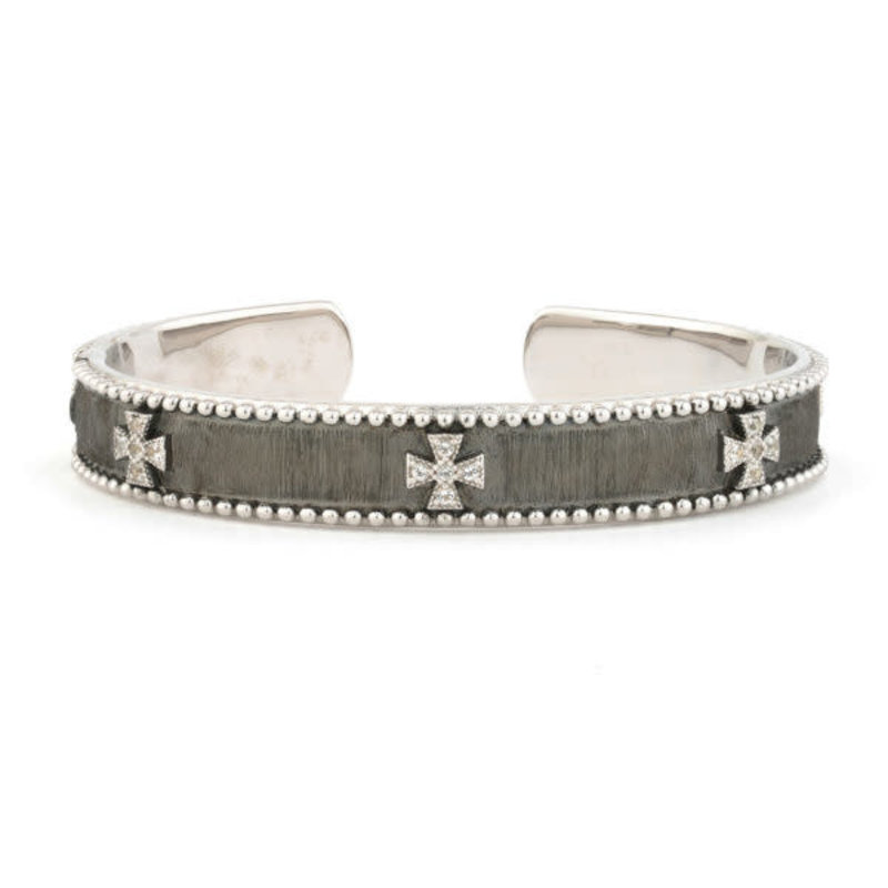 Jude Frances Silver Beaded Maltese Cuff
