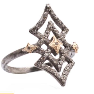 Armenta Open Crivelli Diamond Ring
