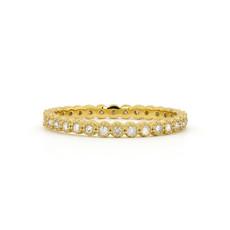 Jude Frances Petite Bezel Diamond Band Yellow Gold