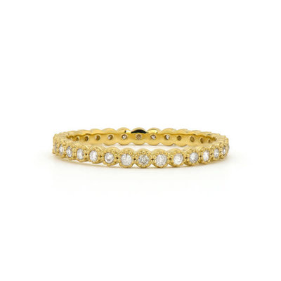 Jude Frances Petite Bezel Diamond Band Yellow Gold