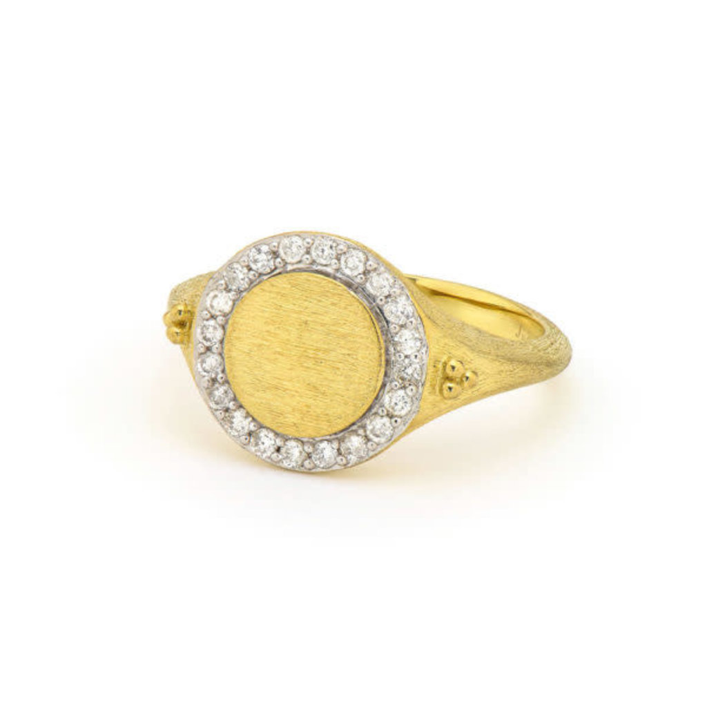 Jude Frances Petite Pave Signet Ring