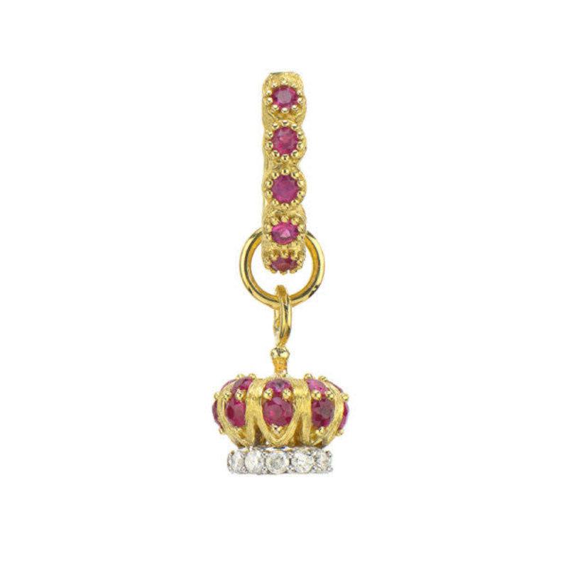 Jude Frances Petite Diamond Crown Charm