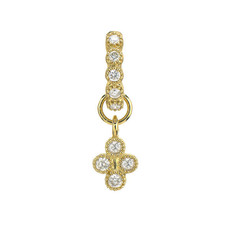 Jude Frances Single Petite Diamond Quad Earring Charm Yellow Gold