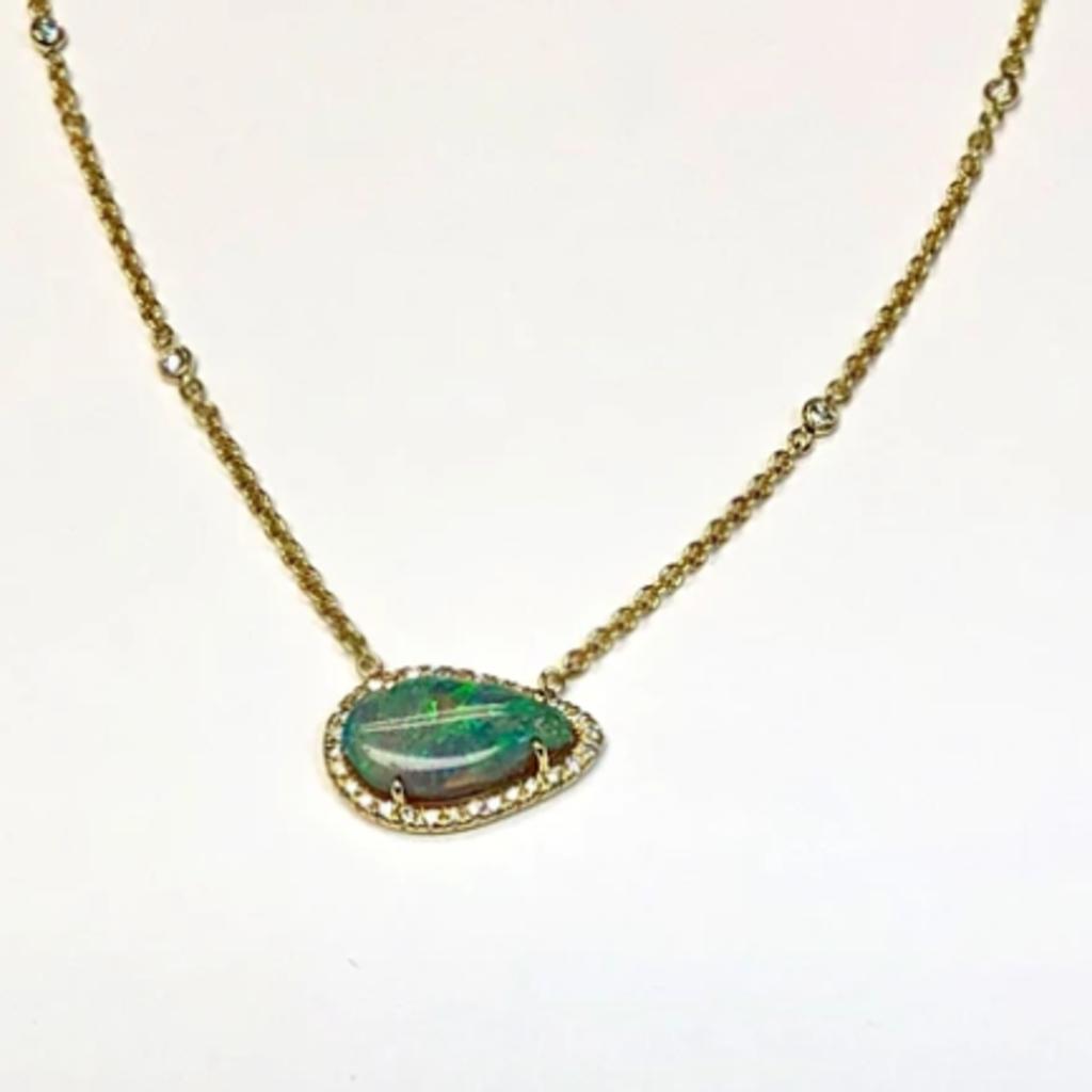 Lauren K Semi-Black Opal Layla Necklace