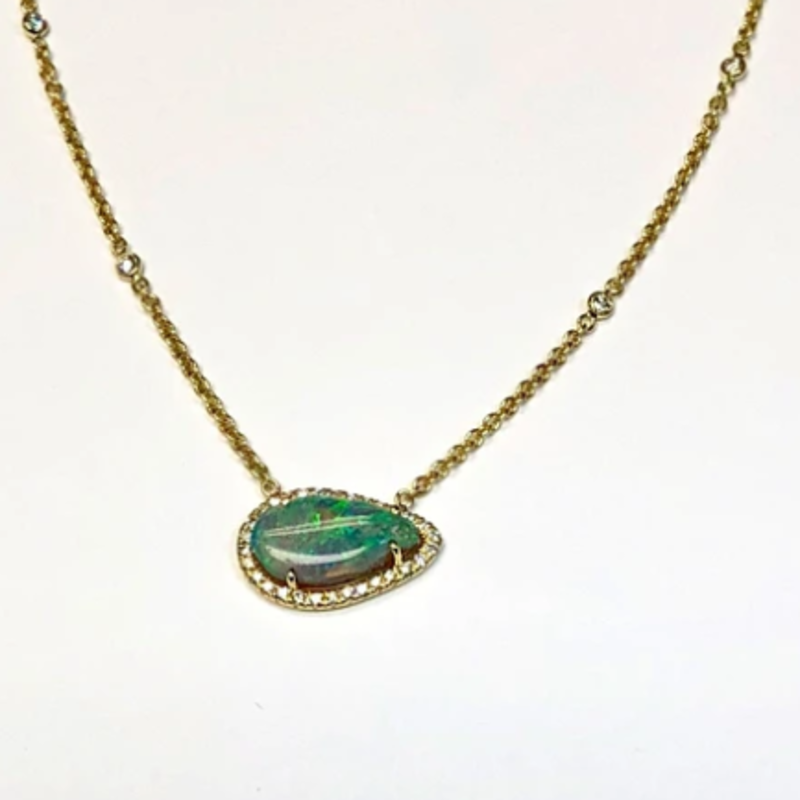 Lauren K Semi-Black Opal Layla Necklace