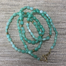 Lauren K Smooth Chryso Bead Necklace