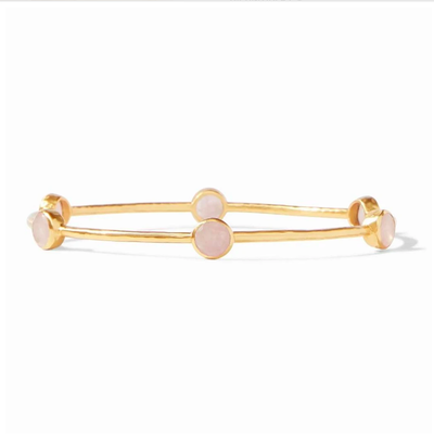 Julie Vos Milano Luxe Bangle Rose Quartz