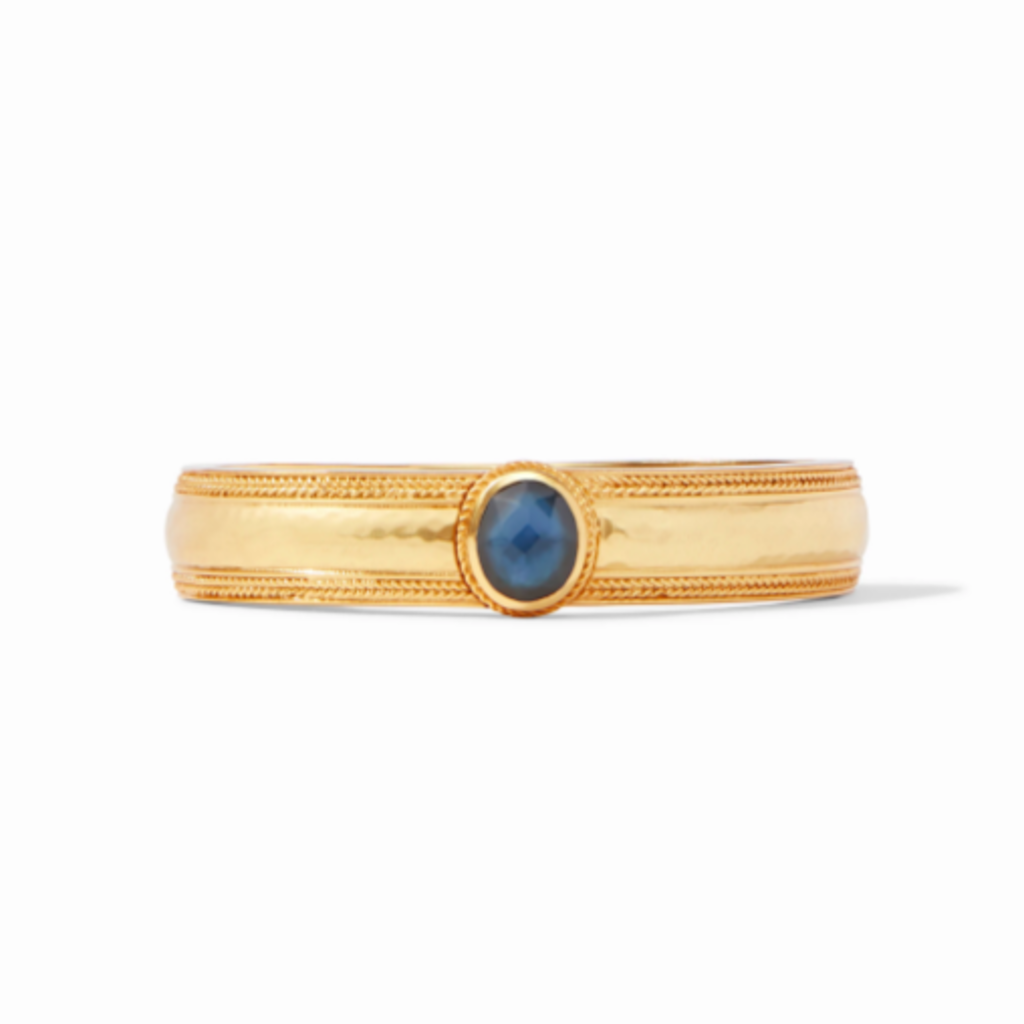 Julie Vos Coin Hinge Bangle Azure Blue
