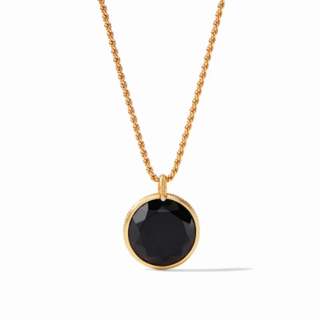 Julie Vos Coin Statement Pendant Necklace in Black