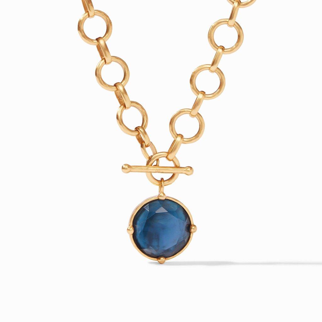 Julie Vos Bee Statement Necklace in Azure Blue