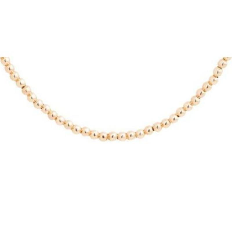 "enewton designs llc 15"" Choker Classic Gold 2MM Bead Necklace"