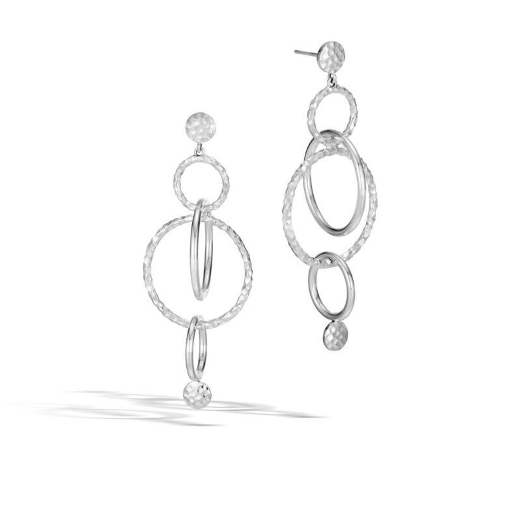 John Hardy Hammered Dot Drop Earring