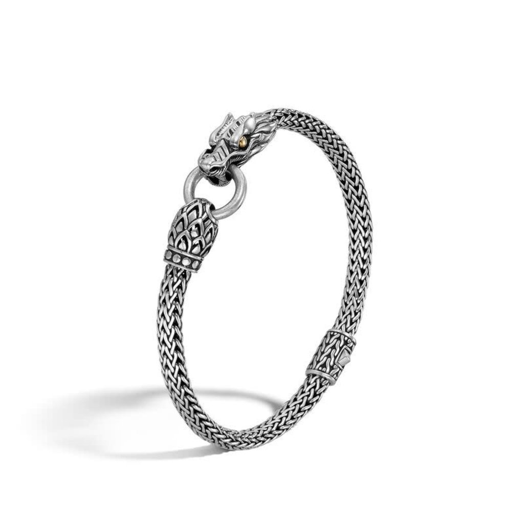 John Hardy Legends Naga 5MM Station Bracelet in Silver and 18K Gold