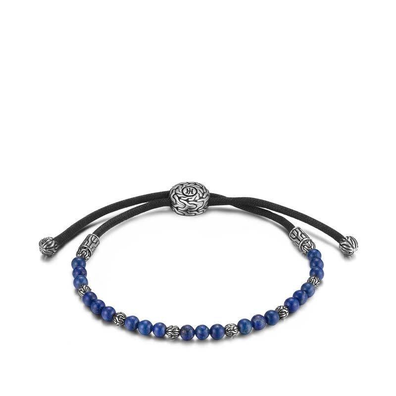 John Hardy Man's Classic Chain Pull Through Bead Bracelet