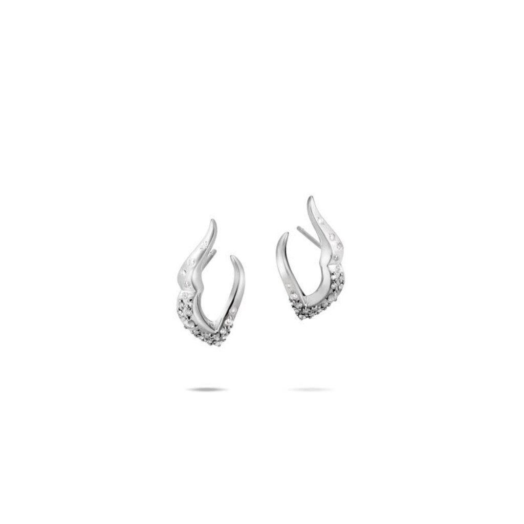 John Hardy Lahar J Hoop Earring With Diamonds