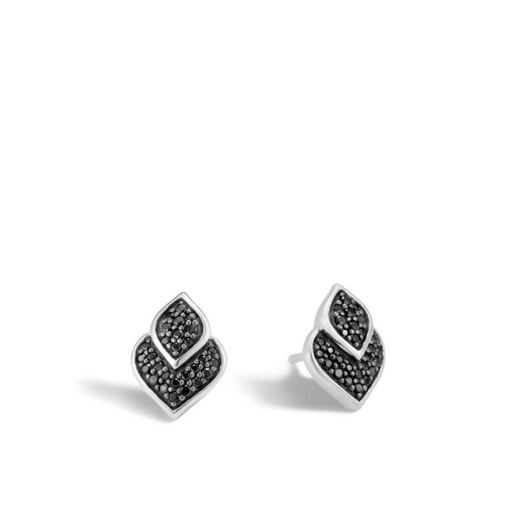 John Hardy Legends Naga 13X9.5MM Stud Earrings With Black Sapphire and Black Spinel