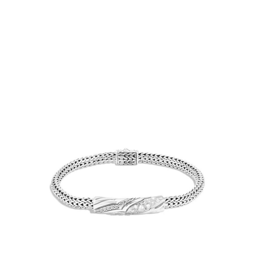 John Hardy Lahar 5MM Station Bracelet With Diamonds
