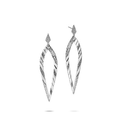 John Hardy Lahar Marquis Drop Diamond Earrings