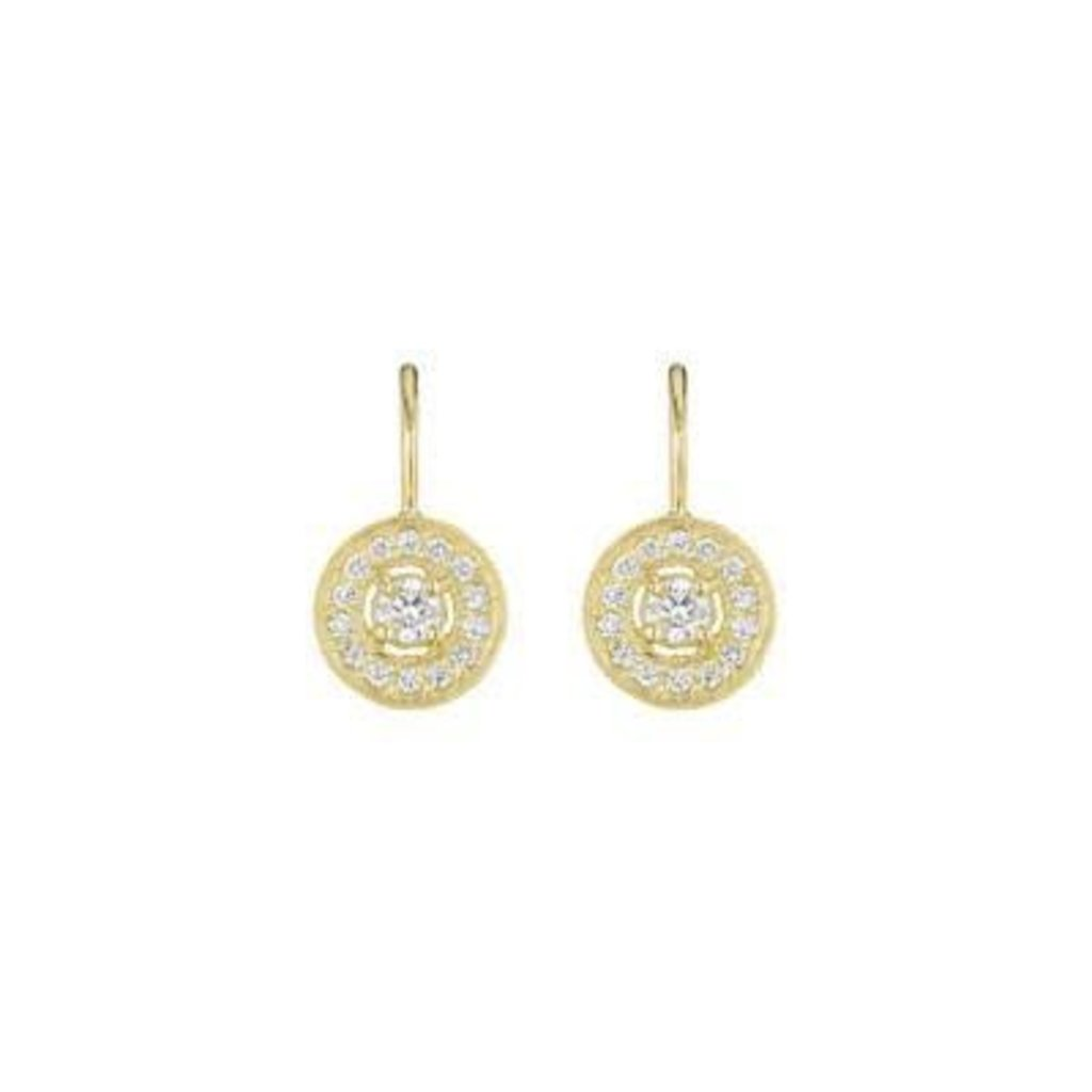 Penny Preville Pave Round Earrings - Gold