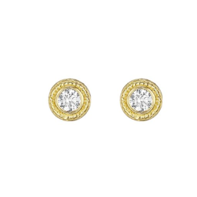 Penny Preville Round Yellow Gold Stud Earring