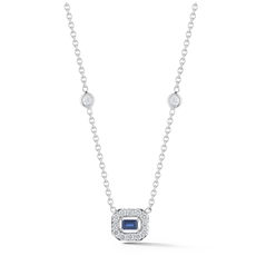 Penny Preville Petite Blue Sapphire Art Deco Necklace