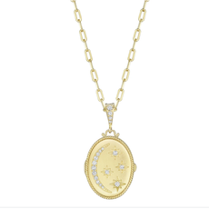 Penny Preville Oval Moon & Star Locket