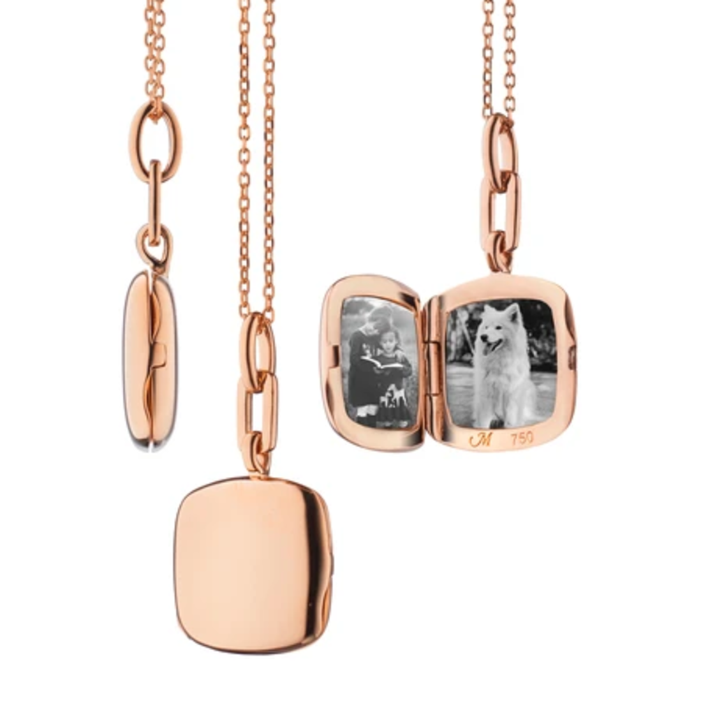 "Monica Rich Slim Cushion ""Viv"" Locket Necklace"