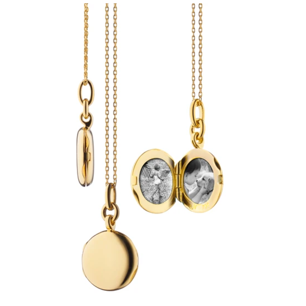 "Monica Rich Slim Round ""Nan"" Locket"