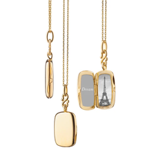 "Monica Rich Slim ""Britt"" Rectangle Locket Necklace"