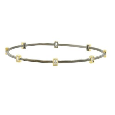 Freida Rothman Signature Square Station Bangle