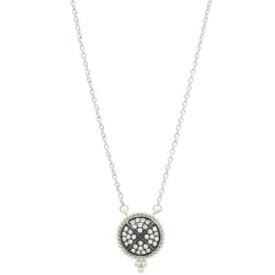 Freida Rothman Signature Pave Disc Necklace