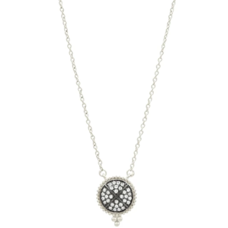 Freida Rothman Signature Pave Disc Necklace