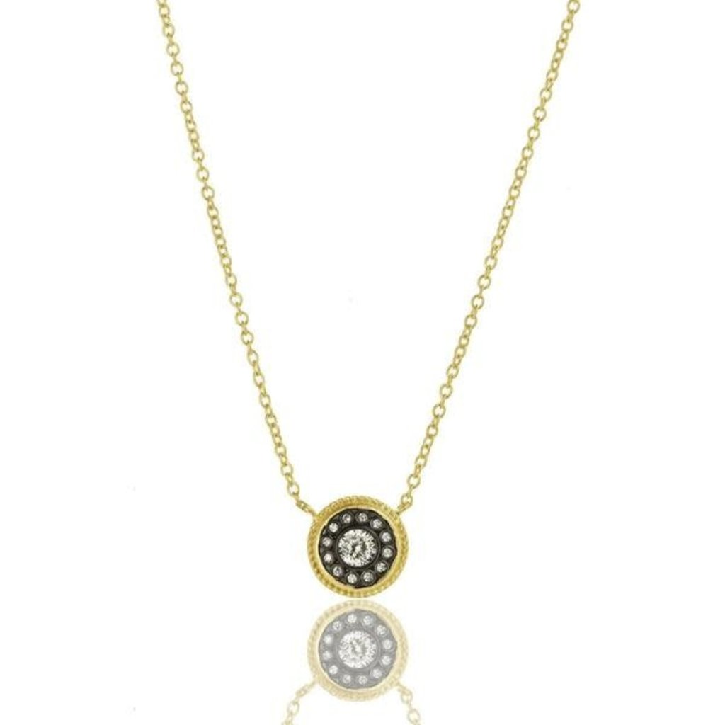 Freida Rothman Nautical Button Necklace Gold