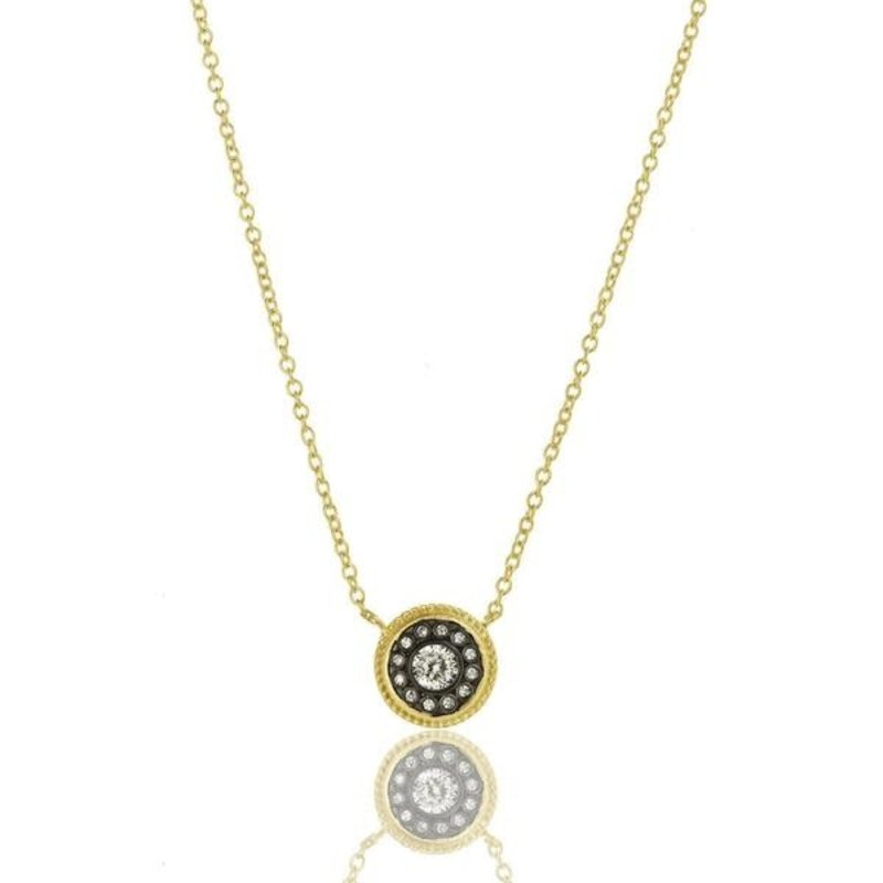 Freida Rothman Nautical Button Necklace Gold
