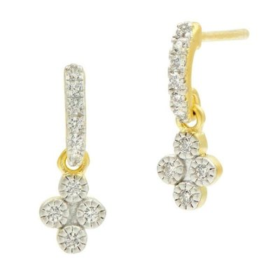 Freida Rothman Petite Clover Earrings
