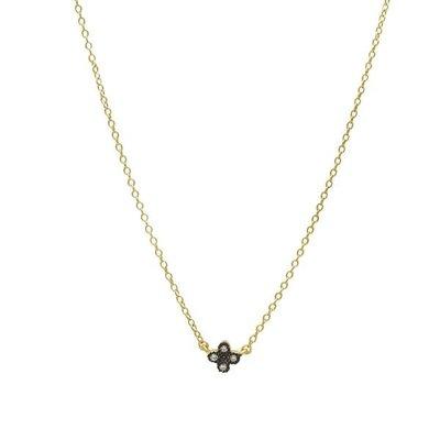 Freida Rothman Mini Clover Necklace