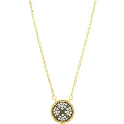 Freida Rothman Signature Pave Disc Pendant Necklace