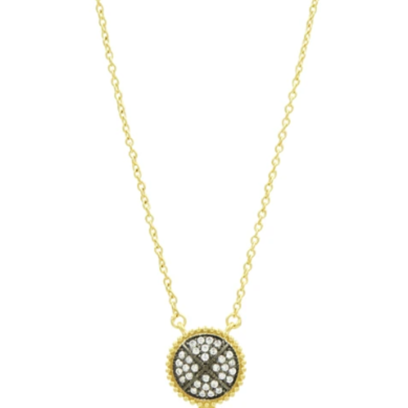 Freida Rothman Signature Pave Disc Pendant Necklace